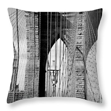 Brooklyn Bridge New York City Usa Throw Pillow by Sabine Jacobs