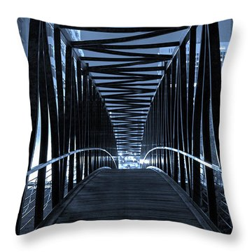 Brown's Island Bridge Throw Pillow by Brian Archer