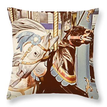 Bryant Park Throw Pillow by JAMART Photography
