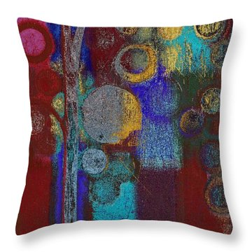 Bubble Tree - Rd01r Throw Pillow by Variance Collections