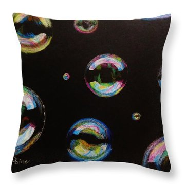 Bubbles Throw Pillow by Savanna Paine
