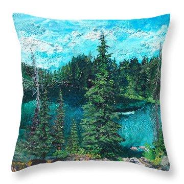 Buck Lake Throw Pillow by Joseph Demaree