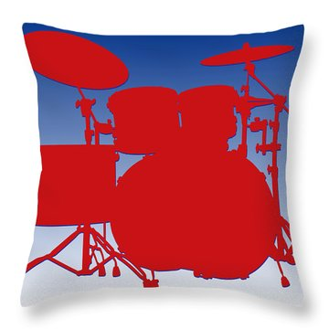 Buffalo Bills Drum Set Throw Pillow by Joe Hamilton