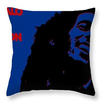 Buffalo Bills Ya Mon Throw Pillow by Joe Hamilton