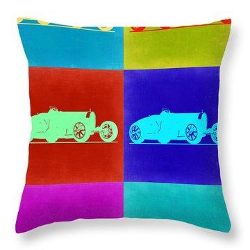 Bugatti Type 35 R Pop Art 2 Throw Pillow by Naxart Studio