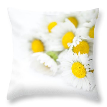Bunch Of Daisies Throw Pillow by Anne Gilbert