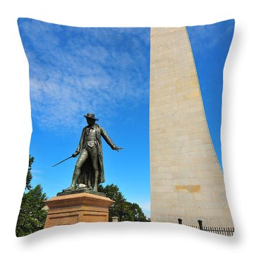 Bunker Hill Monument Throw Pillow by Catherine Reusch  Daley