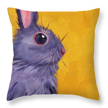 Bunny Throw Pillow by Nancy Merkle