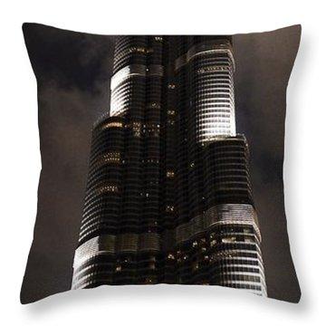Burj Khalifa Throw Pillow by Corinne Rhode