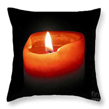 Burning Candle Throw Pillow by Elena Elisseeva