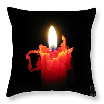 Burnout Throw Pillow by Ann Horn