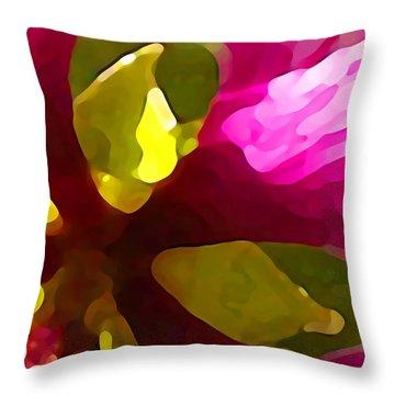 Burst Of Spring Throw Pillow by Amy Vangsgard