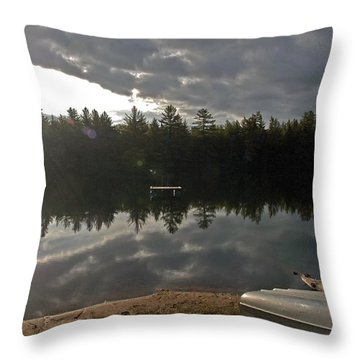 Bursting Throw Pillow by Joseph Yarbrough