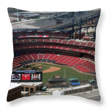 Busch Memorial Stadium Throw Pillow by Thomas Woolworth