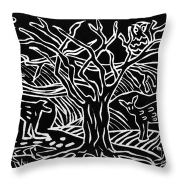 Bushveld Indaba Throw Pillow by Caroline Street