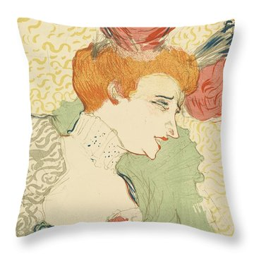 Bust Of Mlle. Marcelle Lender Throw Pillow by Toulouse-Lautrec