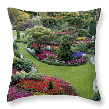 Decorative Pillows Victoria Bc : Butchart Gardens Photograph by John M Bailey
