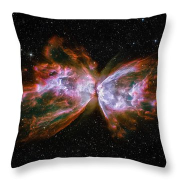 Butterfly Nebula Ngc6302 Throw Pillow by Adam Romanowicz