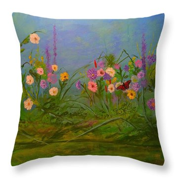 Butterflys Dream Land  Throw Pillow by Michael Mrozik