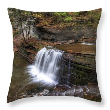 Buttermilk Creek Falls Throw Pillow by Mark Papke