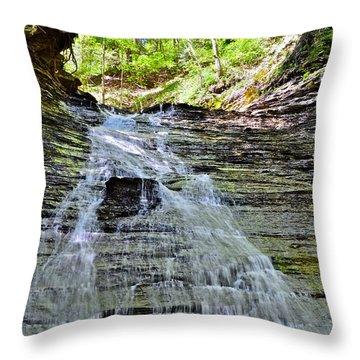 Butternut Falls Throw Pillow by Frozen in Time Fine Art Photography