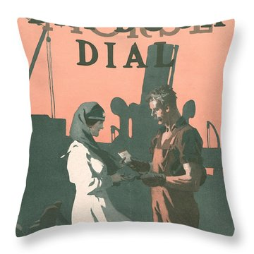Buy A Bond Throw Pillow by Edward Hopper