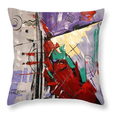 By The Blood Of Jesus Throw Pillow by Anthony Falbo