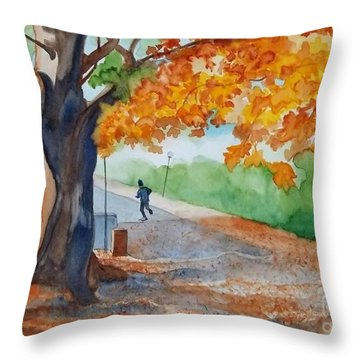 By The Rideau Canal Throw Pillow by Lise PICHE