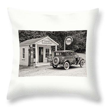Bygone Days Throw Pillow by Brenda Hackett