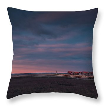 Throw Pillow featuring the photograph Cabanes by Thierry Bouriat