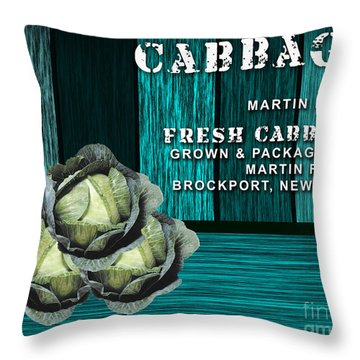 Cabbage Farm Throw Pillow by Marvin Blaine