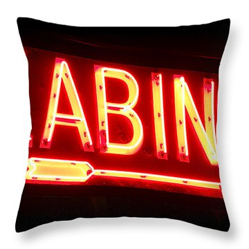 Cabins Throw Pillow by Olivier Le Queinec