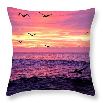 Cabo San Lucas Sunrise Throw Pillow by Marcia Colelli