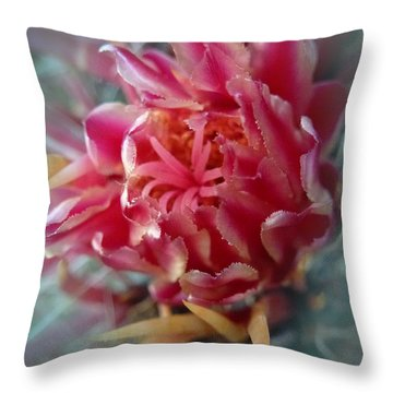 Cactus Blossom 6 Throw Pillow by Xueling Zou