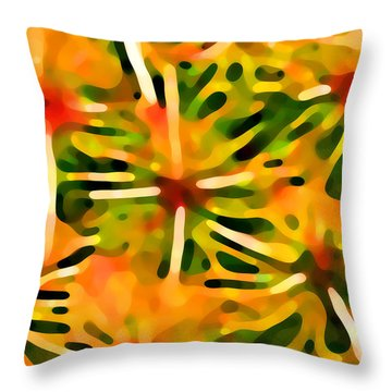 Cactus Pattern 3 Yellow Throw Pillow by Amy Vangsgard