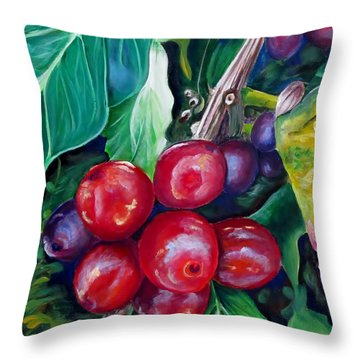 Cafe Costa Rica Throw Pillow by Carol Allen Anfinsen