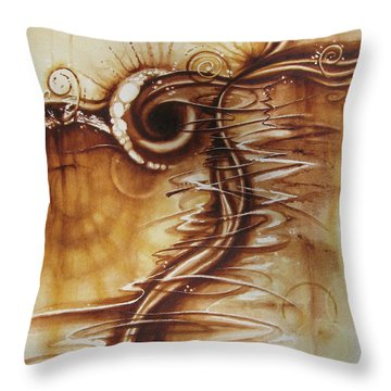 Caffeine Throw Pillow by Tracy Male