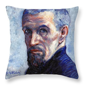 Caillebotte Throw Pillow by Tom Roderick