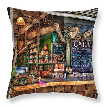 Cajun Cafe Throw Pillow by Brenda Bryant