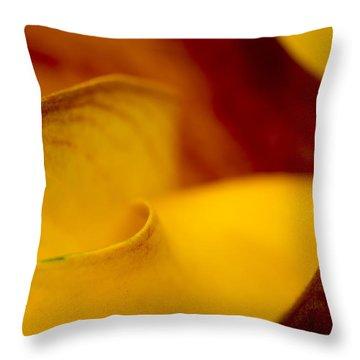 Calla Lily Waves Throw Pillow by Sebastian Musial