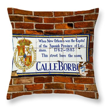 Calle Borbo Throw Pillow by Susie Hoffpauir