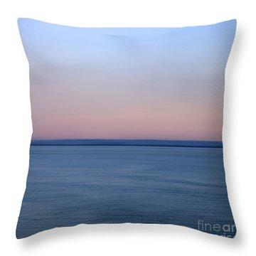 Calm Sea Throw Pillow by Bernard Jaubert