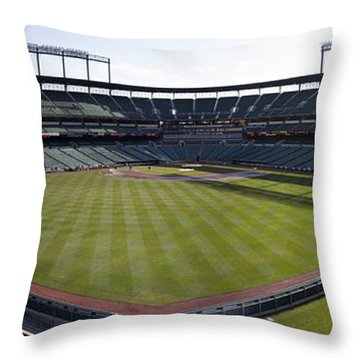 Camden Yards - Baltimore Orioles Throw Pillow by Darleen Stry