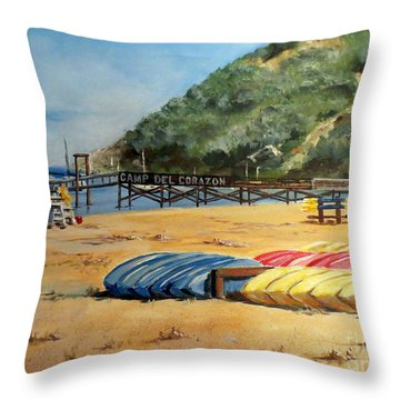 Camp Del Corazon  Throw Pillow by Lee Piper