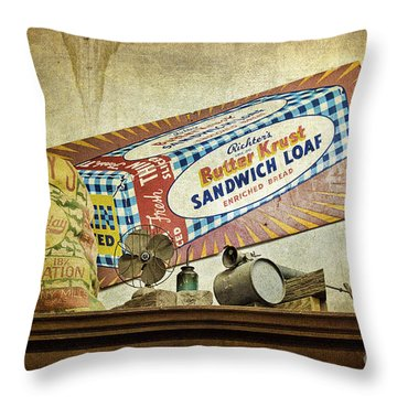 Camp Verde Texas General Store Throw Pillow by Priscilla Burgers