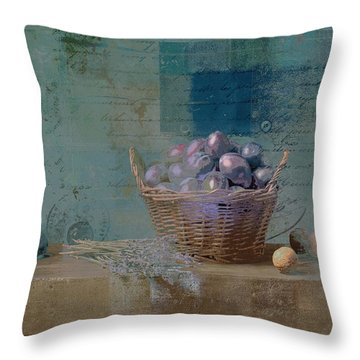 Campagnard - Rustic Still Life - J085079161f Throw Pillow by Variance Collections