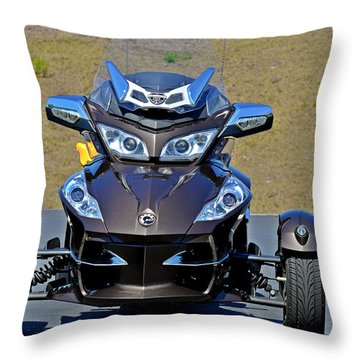 Can-am Spyder - The Spyder Five Throw Pillow by Christine Till
