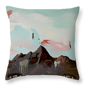 Can You See The Skull Throw Pillow by Joseph Demaree