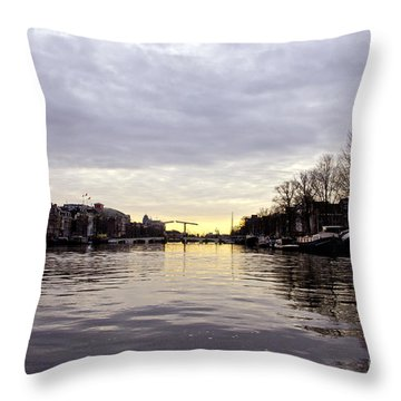 Canals Of Amsterdam Throw Pillow by Pravine Chester