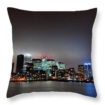 London Skyline Throw Pillow by Mark Rogan